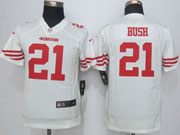 Youth Nfl San Francisco 49ers #21 Bush White Game Jersey Sn