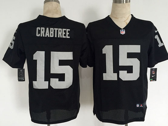 Mens Nfl Oakland Raiders #15 Crabtree Black Elite Jersey
