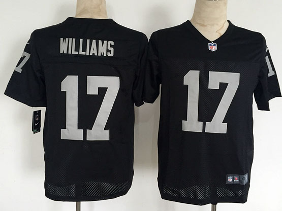 Mens Nfl Oakland Raiders #17 Williams Black Elite Jersey