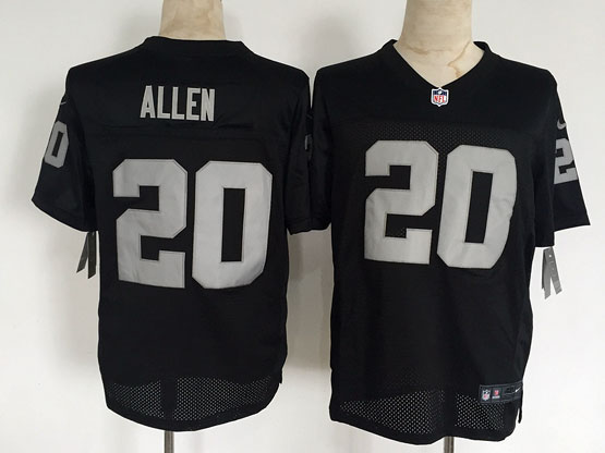 Mens Nfl Oakland Raiders #20 Allen Black Elite Jersey