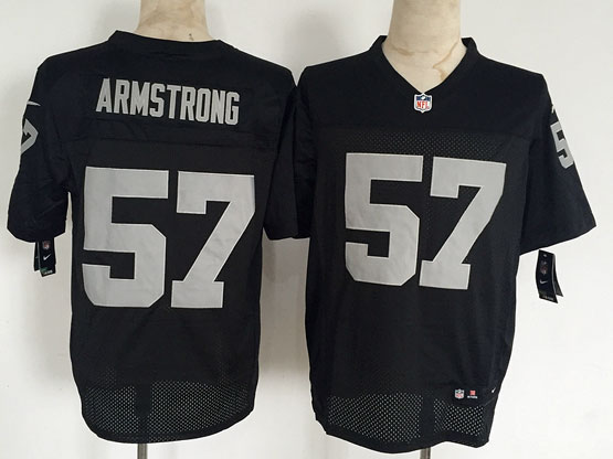 Mens Nfl Oakland Raiders #57 Armstrong Black Elite Jersey