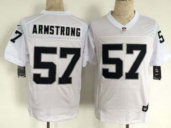 Mens Nfl Oakland Raiders #57 Armstrong White Elite Jersey