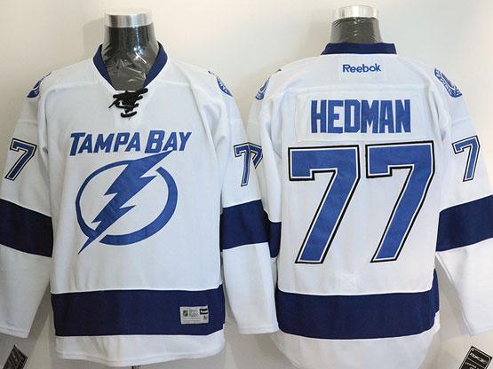 Mens reebok nhl tampa bay lightning #77 hedman white Jersey