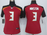 women  nfl Tampa Bay Buccaneers #3 Jameis Winston (2014 new) red limited jersey