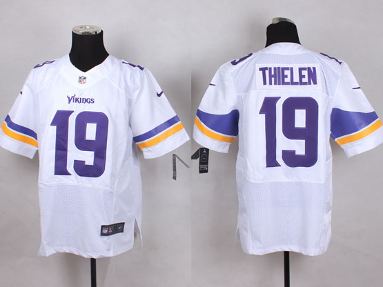 Mens Nfl Minnesota Vikings #19 Thielen White Elite Jersey
