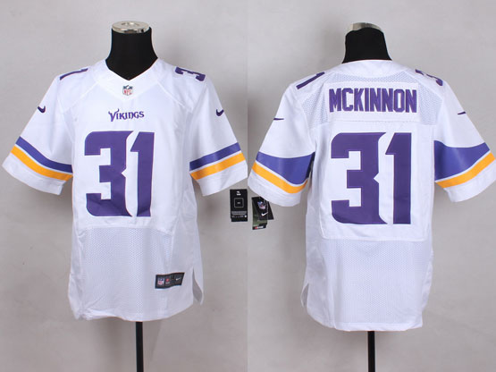 Mens Nfl Minnesota Vikings #31 Mckinnon White Elite Jersey