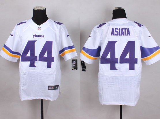 Mens Nfl Minnesota Vikings #44 Asiata White Elite Jersey