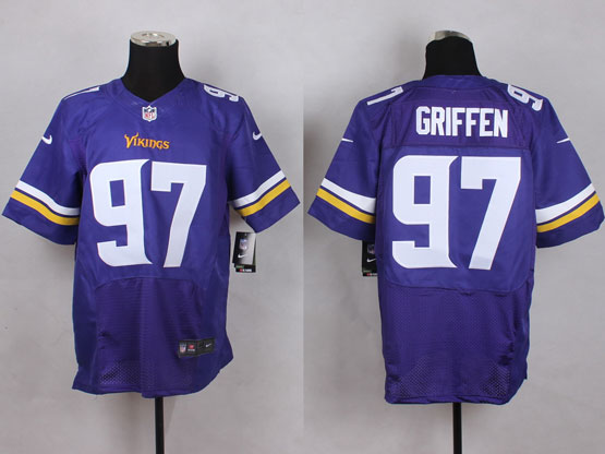 Mens Nfl Minnesota Vikings #97 Griffen Purple Elite Jersey