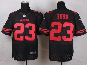 Mens Nfl San Francisco 49ers #23 Bush Black Elite Jersey