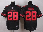 Mens Nfl San Francisco 49ers #28 Hyde Black Elite Jersey