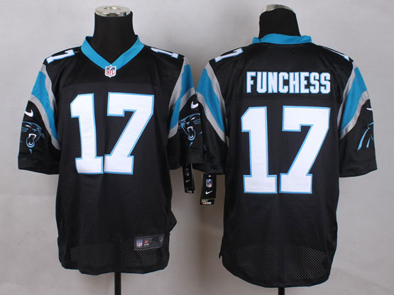 Mens Nfl Carolina Panthers #17 Funchess Black Elite Jersey