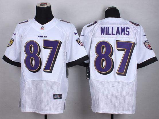 Mens Nfl Baltimore Ravens #87 Maxx Willams White Elite Jersey