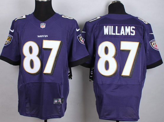 Mens Nfl Baltimore Ravens #87 Maxx Willams Purple Elite Jersey