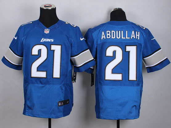 Mens Nfl Detroit Lions #21 Abdullah Blue Elite Jersey