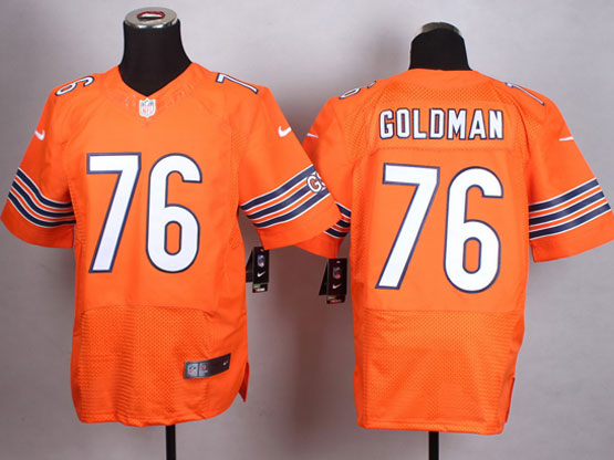 Mens Nfl Chicago Bears #76 Goldman Orange Elite Jersey