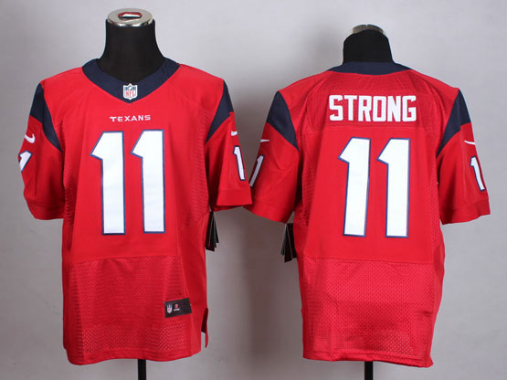Mens Nfl Houston Texans #11 Strong Red Elite Jersey