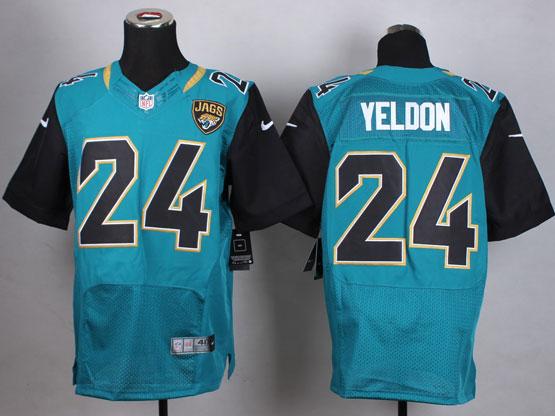Mens Nfl Jacksonville Jaguars #24 Yeldon Green Elite Jersey