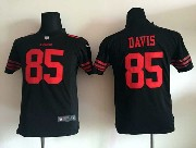 Youth Nfl San Francisco 49ers #85 Davis Black Game Jersey
