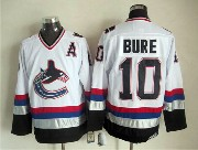 Mens nhl vancouver canucks #10 bure white throwbacks (2015 new) Jersey