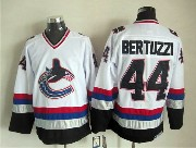 Mens nhl vancouver canucks #44 bertuzzi white throwbacks Jersey