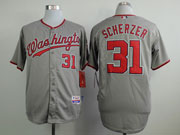 Mens Mlb Washington Nationals #31 Max Scherzer Gray Jersey