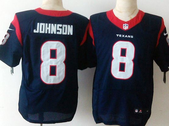Mens Nfl Houston Texans #8 Johnson Blue Elite Jersey Sn