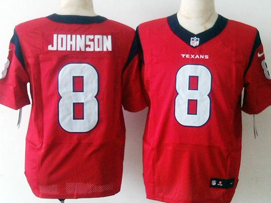 Mens Nfl Houston Texans #8 Johnson Red Elite Jersey Sn