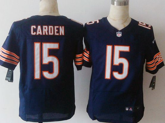 Mens Nfl Chicago Bears #15 Carden Blue Elite Jersey Sn