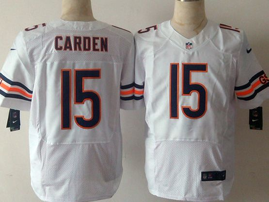 Mens Nfl Chicago Bears #15 Carden White Elite Jersey Sn