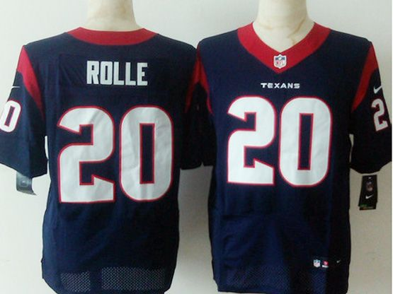 Mens Nfl Houston Texans #20 Rolle Blue Elite Jersey Sn
