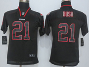 Youth   Nfl San Francisco 49ers #21 Bush Lights Out Black Elite Jersey Sn