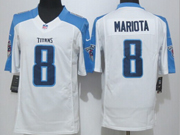 Mens   Nfl Tennessee Titans #8 Mariota White Limited Jersey
