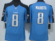 Mens   Nfl Tennessee Titans #8 Mariota Blue Limited Jersey