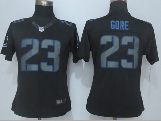 Women  New   Nfl Indianapolis Colts #23 Black (new Impact Limited) Jersey