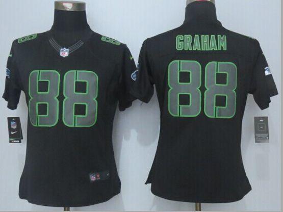 Women  New   Nfl Seattle Seahawks #88 Graham Black (new Impact Limited) Jersey