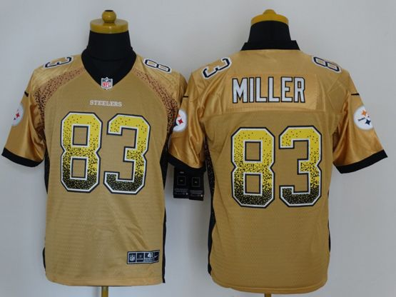 Mens Nfl Pittsburgh Steelers #83 Miller Drift Fashion Yellow Elite Jersey