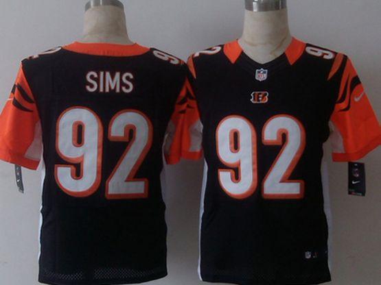 Mens Nfl Cincinnati Bengals #92 Sims Black Elite Jersey