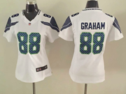 Women  Nfl Seattle Seahawks #88 Graham White Game Jersey