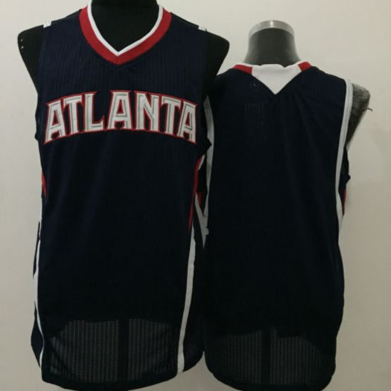 Mens Nba Atlanta Hawks Blank Black Jersey