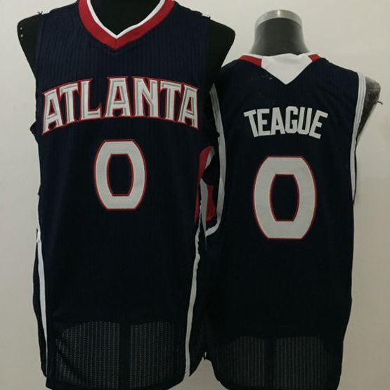 Mens Nba Atlanta Hawks #0 Teague Black Jersey