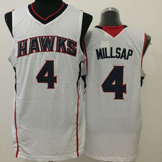Mens Nba Atlanta Hawks #4 Millsap White Jersey