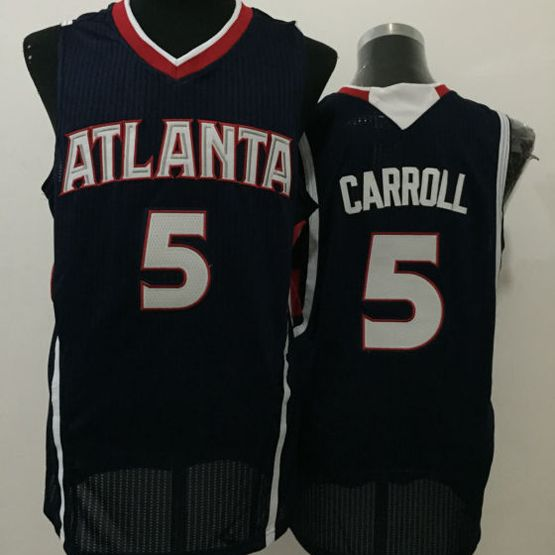 Mens Nba Atlanta Hawks #5 Carroll Black Jersey