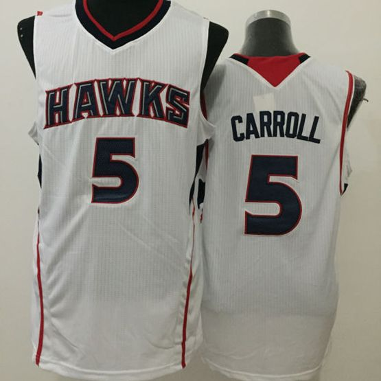 Mens Nba Atlanta Hawks #5 Carroll White Jersey