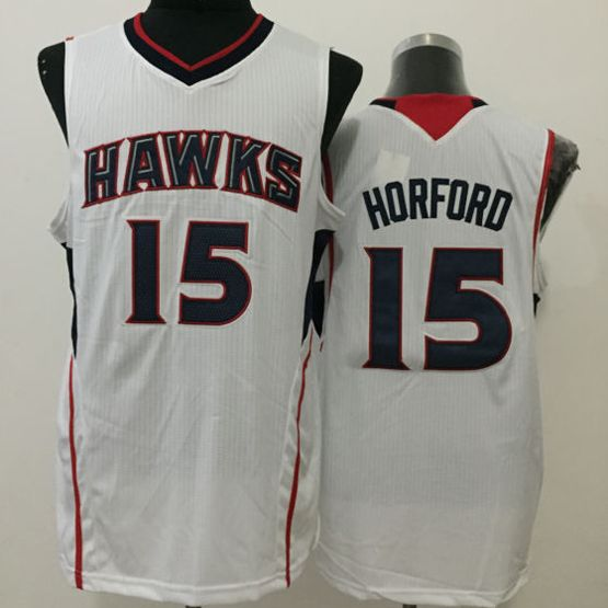Mens Nba Atlanta Hawks #15 Horford White Jersey