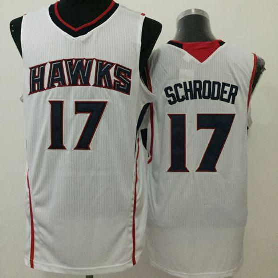 Mens Nba Atlanta Hawks #17 Schroder White Jersey