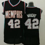 Mens Nba Memphis Grizzlies #42 Wright Black Jersey