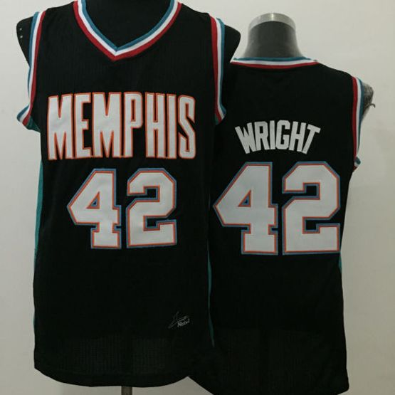 Mens Nba Memphis Grizzlies #42 Wright Black Jersey