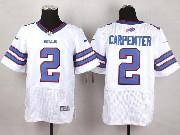 Mens Nfl Buffalo Bills #2 Dan Carpenter White Elite Jersey