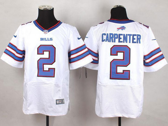 Mens Nfl Buffalo Bills #2 Dan Carpenter White Elite Jersey
