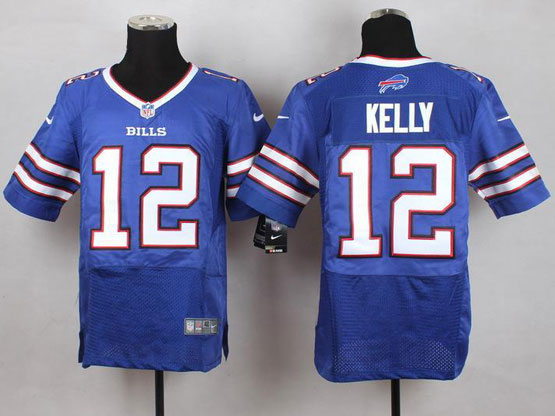 mens nfl Buffalo Bills #12 Jim Kelly light blue elite jersey